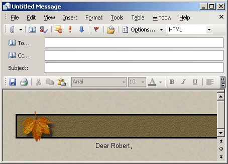New Message in Outlook 2003