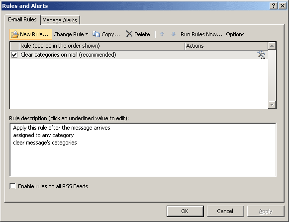 Rules and Alerts in Outlook 2007