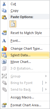 Data in Excel 2010