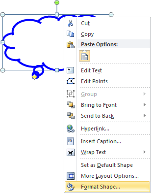popup in Word 2010