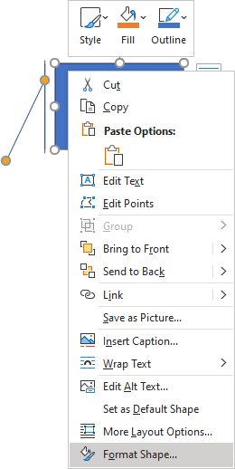 popup in Word 365