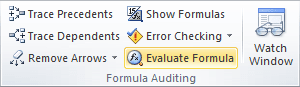 Formulas in Excel 2010