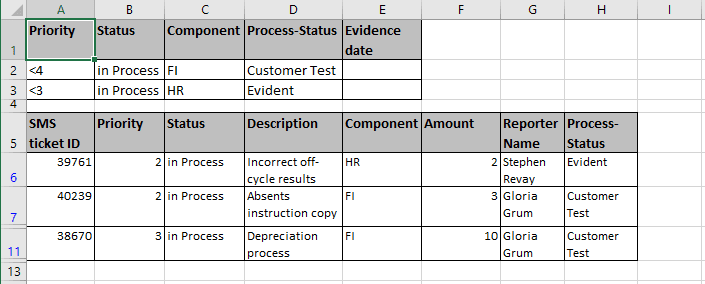 OR criteria result in Excel 2016