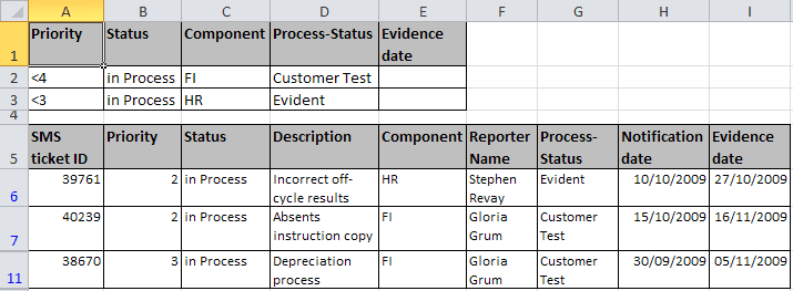 OR criteria result in Excel 2010