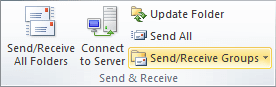 Send and Receive in Outlook 2010
