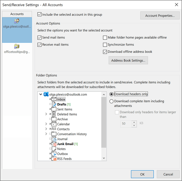 Automatic picture download in outlook