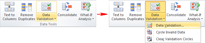 Data Tools in Excel 2010