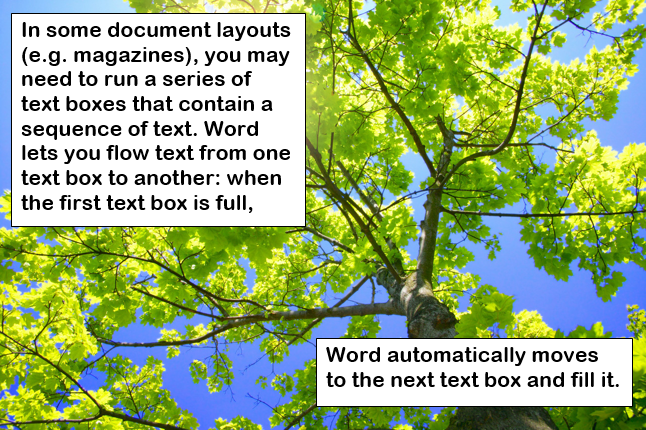 Text flow in Word 2013