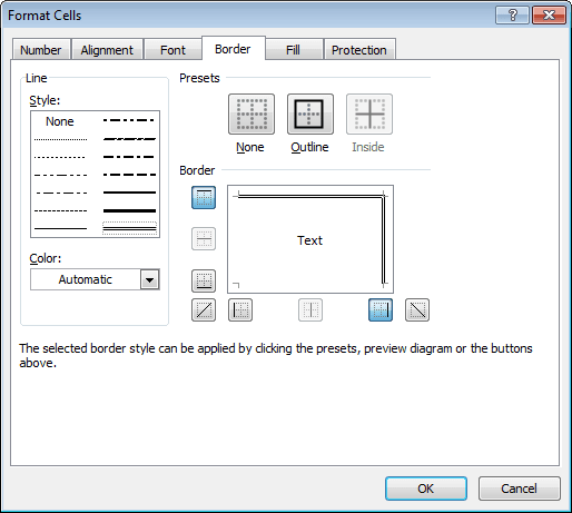 Format Cells in Excel 2010