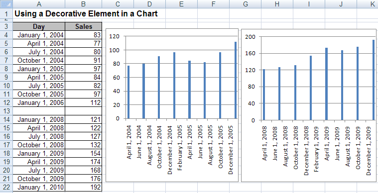 Example in Excel 2007