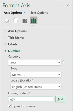Add Format Code in Excel 365