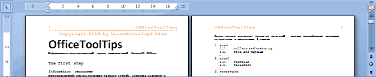 Example of different headers and footers on odd and even pages Word 2007