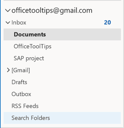 Search Folders in Outlook 365