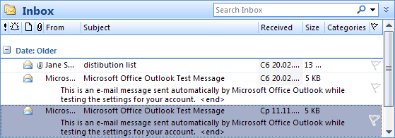 AutoPreview in Outlook 2007