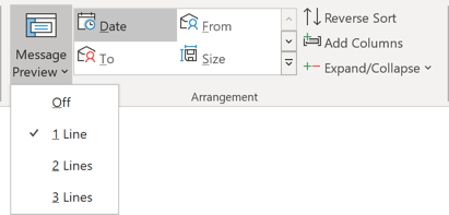 Preview in Outlook 365