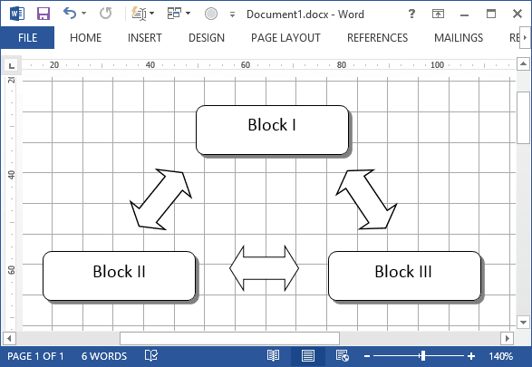 Gridlines in Word 2013