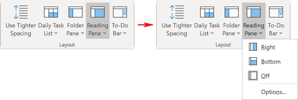 Layout group in Outlook 365