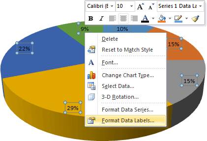 popup menu in Excel 2010