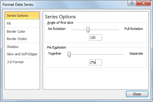 Format Data Series in Excel 2010