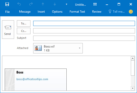 New message Outlook 2016