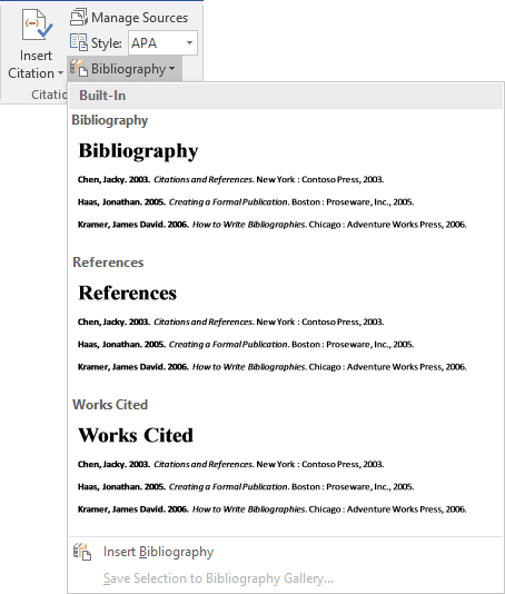 format for bibliography apa