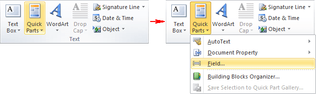 Text in Word 2010