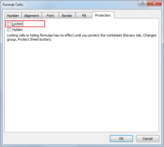 Protection in Excel 2010