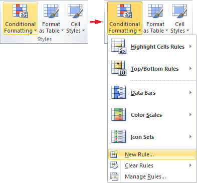 Conditional Formatting in Word 2010