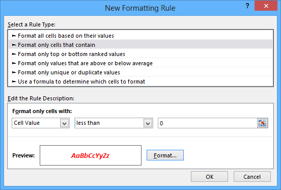 New Formatting Rule in Word 2013