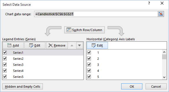 Select Data Source In Excel 2016