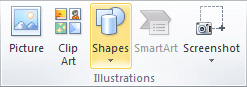 AutoShapes in Excel 2010