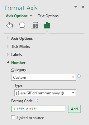 how to add axis labels in excel 2016