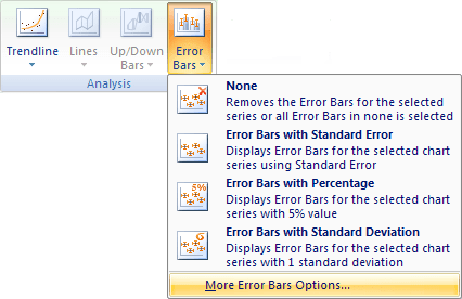 More Error Bars Options