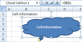 Shape with cell information Excel 2007
