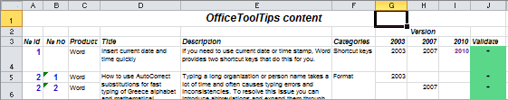 Center text across multiple columns example in Excel 2010