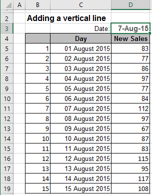 Data in Excel 2016