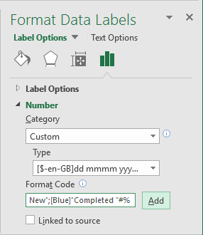 Format Data Labels in Excel 2016