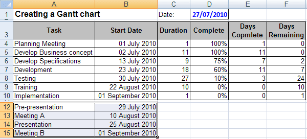 Data Chart in Excel 2007