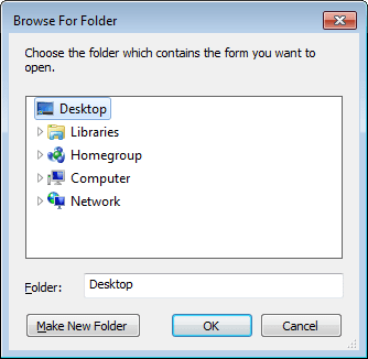 Browse For Folder in Outlook 2010