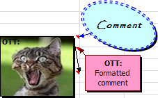 Examples of comments in Excel 2010