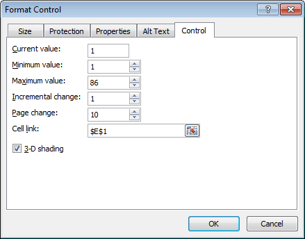 Format Control in Excel 2010