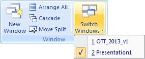Switch Windows in PowerPoint 2007