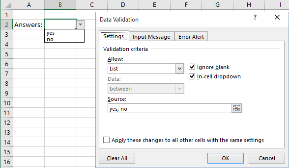 excel how to write in a drop down cell