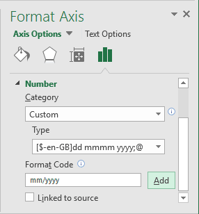 Add Format Code in Excel 2016