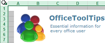 Select all cells in Excel 2013