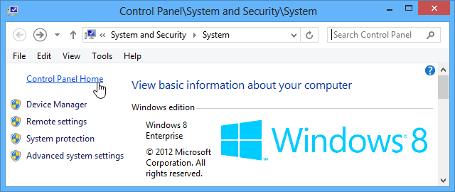 Windows 8 system