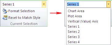 Choose data series in Excel 2010