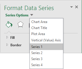 popup data series in Excel 2016