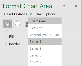 Choose data series in Excel 365