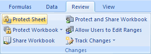 protect sheet Excel 2007